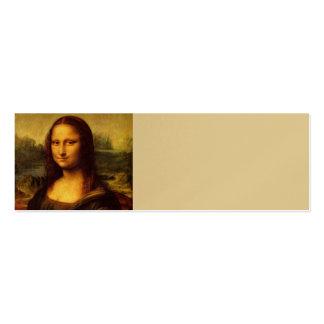 Pintura das belas artes de Leonardo da Vinci Mona Cartão De Visita Skinny