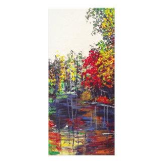 Pintura das reflexões 10.16 x 22.86cm panfleto