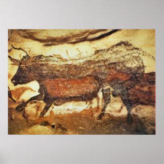 Pintura de caverna pré-histórica de Lascaux Poster