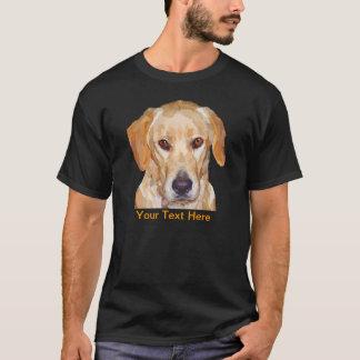 """Pintura de Labrador """"Reggie"""" no t-shirt dos homens"""