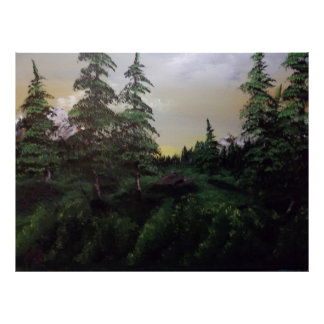 Pintura de paisagem pôster
