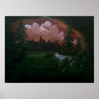 Pintura de paisagem posteres