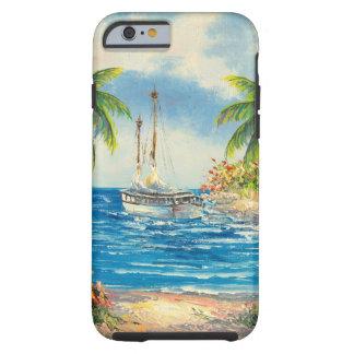 Pintura de um veleiro em Havaí Capa Tough Para iPhone 6