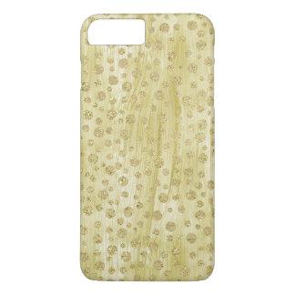 Pintura do brilho do falso dos confetes do ouro capa iPhone 8 plus/7 plus
