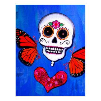 Pintura do crânio de Diâmetro De Los Muertos Cartão Postal
