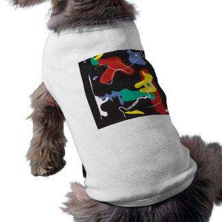 Pintura do gotejamento camisa sem mangas para cachorro