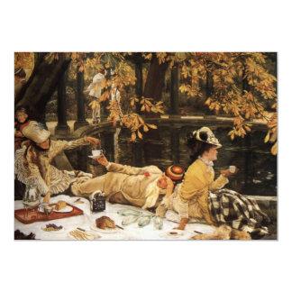 Pintura do piquenique de Holyday Convite 12.7 X 17.78cm