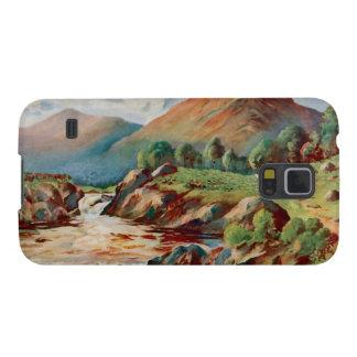 Pintura do vintage do rio Conan no Ross-condado Capinha Galaxy S5