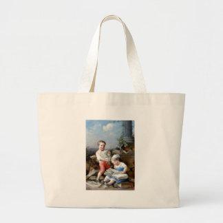 Pintura dos livros de leitura do menino e da menin bolsa para compra