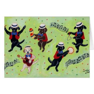 Pintura dos músicos de Labrador do Mambo Cartões
