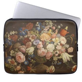 Pintura floral do vintage elegante pelo Muller de  Capas De Computadores Notebooks
