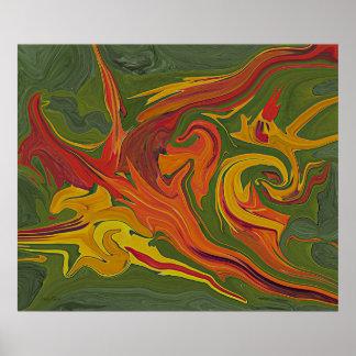 Pintura legal de Digitas da arte abstracta Pôster