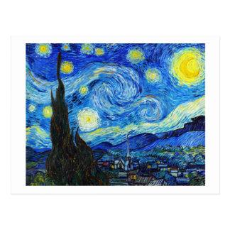 Pintura legal de Vincent van Gogh da noite Cartão Postal
