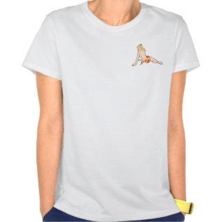 Pinup do 50 do vintage na praia camisetas
