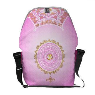 Pique 7o Chakra, saco cor-de-rosa de Sahasrana por Bolsas Mensageiro