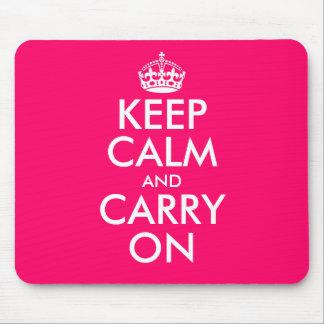 Pique mantêm-se calmo e continuam-se o tapete do mouse pad