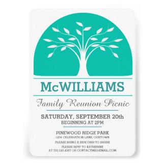 Piquenique da reunião de família convites personalizado