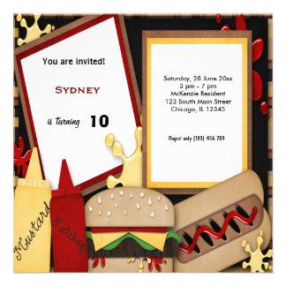 Piquenique do aniversário convite personalizados