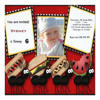 Piquenique do aniversário convites