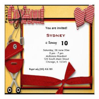 Piquenique do aniversário convites personalizado