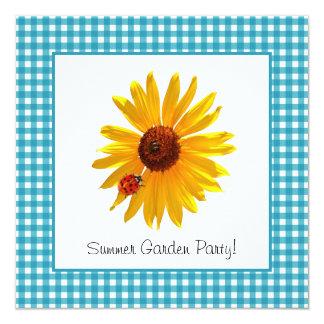 Piquenique do girassol do partido de jardim do convites