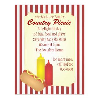 Piquenique do Hotdog Convite Personalizado