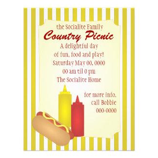 Piquenique do Hotdog Convite