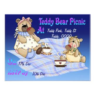 Piquenique do urso de ursinho convites personalizados