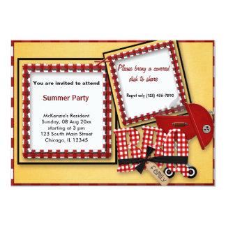 Piquenique do verão convites personalizados