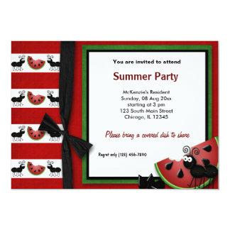 Piquenique do verão convite personalizado