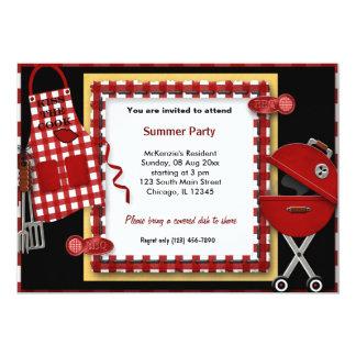 Piquenique do verão convite