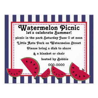 Piquenique do Watermleon da formiga Convite Personalizados