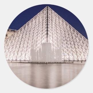 pirâmide france Paris da grelha na noite Adesivo