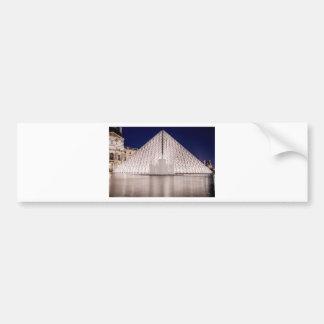 pirâmide france Paris da grelha na noite Adesivo Para Carro