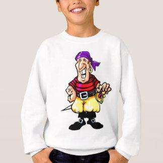 Pirata dos desenhos animados t-shirt