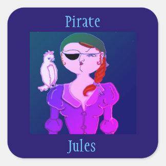Pirata Jules a etiqueta do pirata de Eco