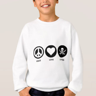 Piratas do amor da paz t-shirts