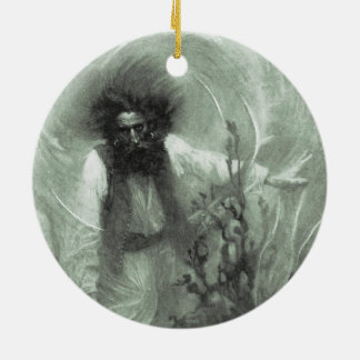 Piratas do vintage, capitão Goldsack por Howard Ornamento De Cerâmica
