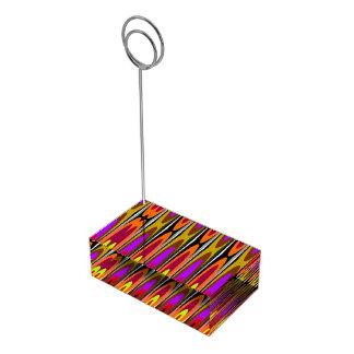 Pires coloridos suportes para cartões de mesa