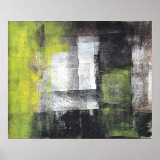 """Pisa"" o poster preto e amarelo da arte abstracta"