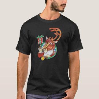Pisc o TShirt da rena do Natal do feriado para