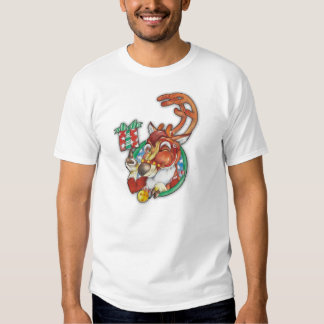 Pisc o TShirt do feriado da rena para homens