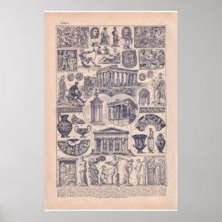 Piscina 1920 histórica do vintage poster