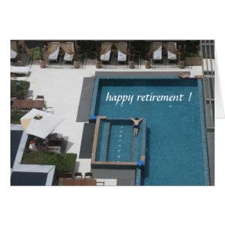 piscina da aposentadoria cartão comemorativo