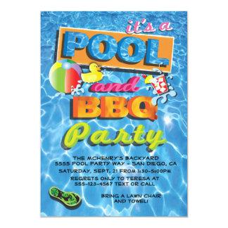 Piscina e convites de festas do CHURRASCO