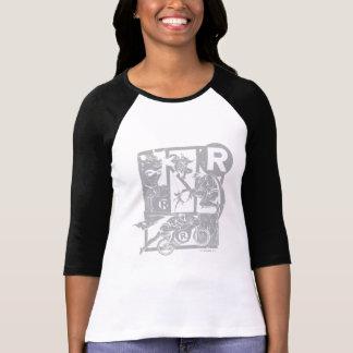 Pisco de peito vermelho - cinza de Picto T-shirts