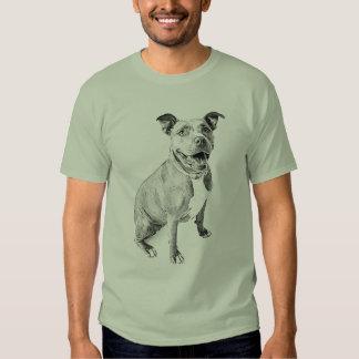 Pitbull amigável tshirts