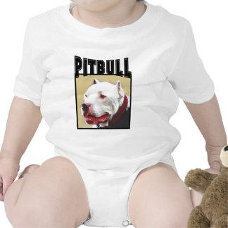 Pitbull branco macacãozinho para bebês