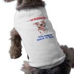 Pitbull de advertência lambido à morte roupas para pet