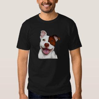 Pitbull de sorriso feliz tshirts